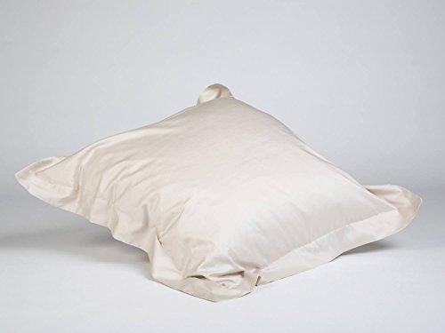Yumeko Bettwäsche - Kissenbezug - Baumwollsatin - 40x80 cm - Sandy Grey - Grau - mit Saum - 100% biologische Baumwolle - ökologisch - weich & geschmeidig - Fair Trade -