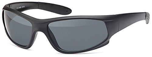 SAMBORA® GXS100-2 Unisex Sonnenbrille Polarisiert UV400 Schutz Sport Style - Rahmen: Schwarz Glas: Schwarz
