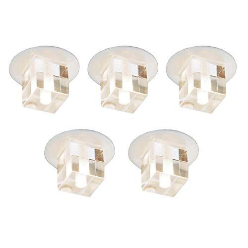 NEG Kristall-Einbauleuchten-Set Stratos13 mit Kristallglas-Kubus (5x20W Osram Leuchtmittel, G4 Stiftsockel, Cube-Glas, weiß)