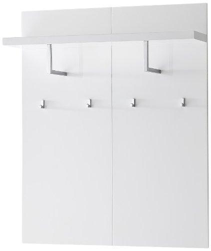 Robas Lund, Garderobe, Wandpaneel, Sydney, Hochglanz/weiß, 52122W1
