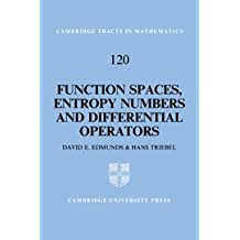 Function Spaces, Entropy Numbers, Differential Operators (Cambridge Tracts in Mathematics)