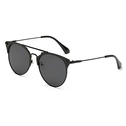 GAXIA Home Unisex-PC-Objektiv Metallrahmen Sonnenbrille UV400 Schutz Korean Style Sunglass