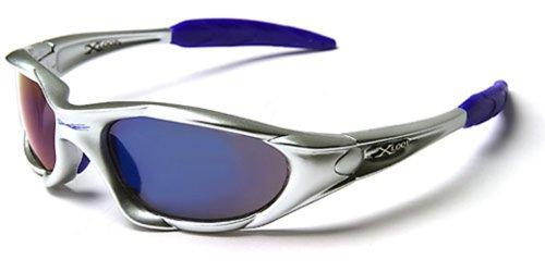 X-Loop Sonnenbrillen - Sport - Radfahren - Skifahren - Laufen - Motorradfahrer - Kajak - Klettern - Angeln / Mod. 1002 Grau Blau