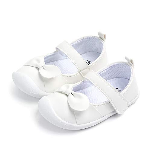 n Ballerinas Kleinkind Klettverschluss Rutschfest Lauflernschuhe Weiß 12-18 Monate ()