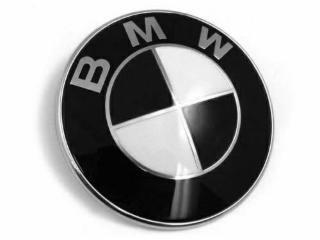 Dunwoth 82mm BMW Schwarz weiss Emblem Logo Vorne Motorhaube 1er 3er 5er 7er Z3 Z4 X3 (Bmw Z3 Z4)