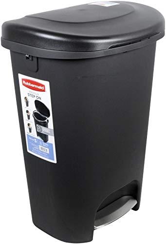 RUBBERMAID Step-On-Abfalleimer Trash kann, 13-Gallon, Metal-Accent schwarz, 1843029