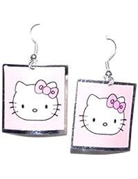 c8e22a74959c Amazon.es  Hello Kitty - Pendientes   Mujer  Joyería