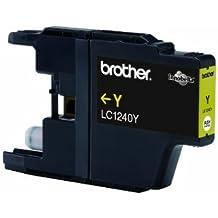 Brother LC1240 Cartouche haute capacité pour imprimante jet d'encre 600 pages Jaune