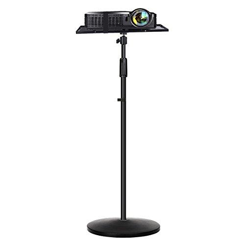 Projektor Ständer, Auledio Beamer Ständer Laptop Projektor abnehmbarer Boden Höhenverstellbar 65 bis 120CM 3/8