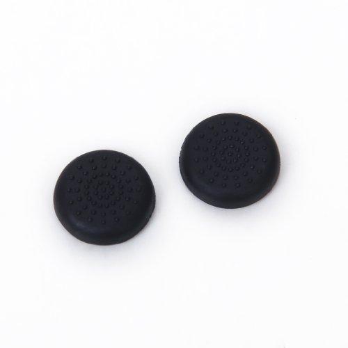 Paar Joystick Thumbstick Kappe Kappen für PlayStation 4 PS4 Controller - Schwarz
