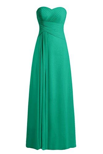 Bbonlinedress Robe de cérémonie Robe de demoiselle d'honneur bustier en cœur longueur ras du sol Vert