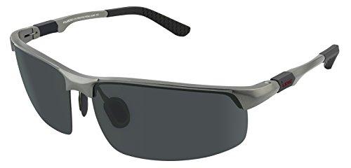 LZXC Herren 100% Polarisiert Sonnenbrille UV400 Fahrerbrille Outdoor Sportbrille Federscharnier AL-MG Metall