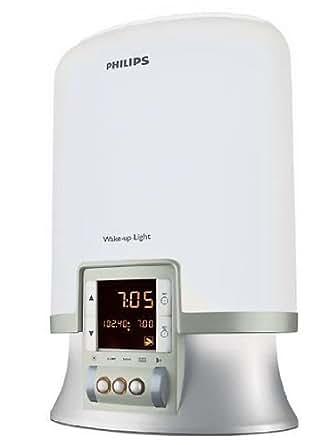 Philips HF 3461/01 Premium Wake-up Light Sonnenaufgangs-Simulation mit 3 natürlichen Wecktönen