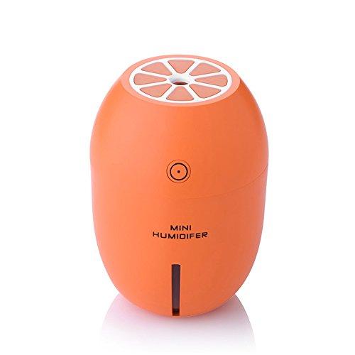 Nrpfell Limone umidificatore ad ultrasuoni Olio Essenziale Il diffusore con aromaterapia Lampada LED Spray Diffusore USB umidificatore Arancia LM-001