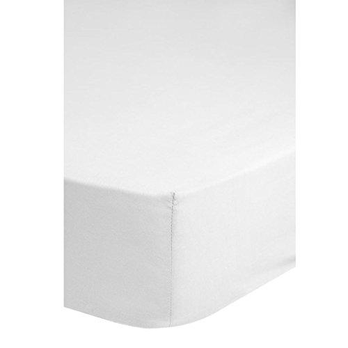 Emotion Spanbettuch Jersey, 200 x 100 x 0,5 cm, weiß