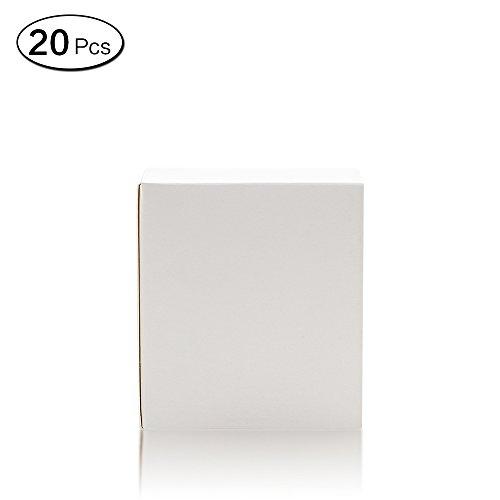 pier Geschenk-Boxen Dessert Candy Aufbewahrungsbox verschiedene Größen Deko 8*8*10CM weiß (Billige Bulk Candy)