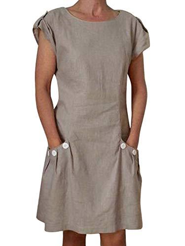 Yidarton Damen Sommer Kleider Strand Elegant Casual A-Linie Kleider à