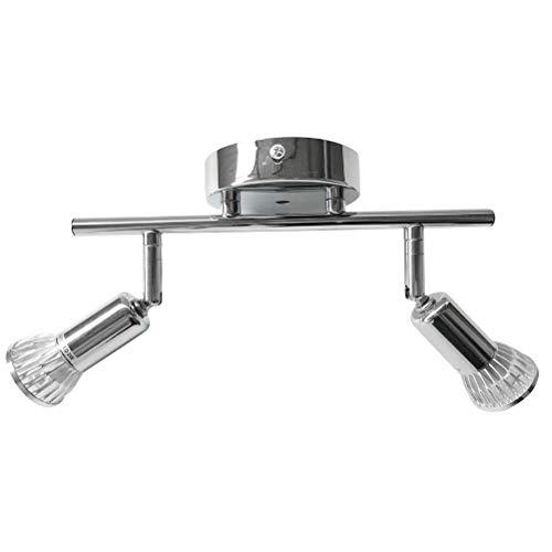 Ampoule décorative rotative du réflecteur du Salon de l'intérieur rotative de la lumière Blanche du LED 2 * 3W Argent