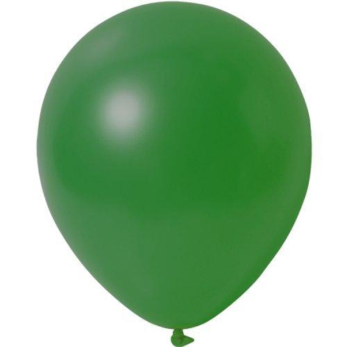 partydiscount24 100 x Luftballons Metallic (Glänzend) Ø 30 cm | Freie Farbauswahl | 23 Ballon Farben (Grün)