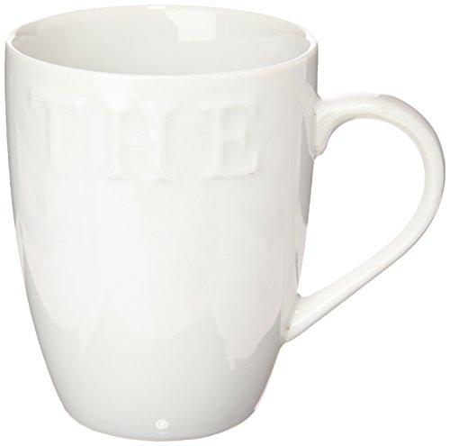 Novastyl 7056010 Lot de 6 Tasses à Thé Caféine Porcelaine Blanc 32 cl