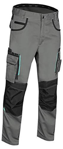 Uvex tune-up 8909 Pantaloni da Lavoro con Velluto Resistente alle Abrasioni| Tasche con Cuscinetti alle Ginocchia | Molte Tasche Laterali | Grigio / Nero | Taglia 42