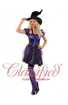 Sexy Lila-Kostüm Hexe, verschiedene Größen