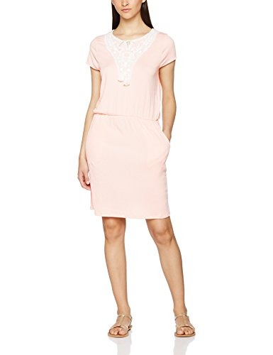 VERO MODA Damen Kleid Vmmatea MY SS Short Dress Jrs, Rosa (Peach Whip Detail:Snow White Lace and String), 38 (Herstellergröße: M)