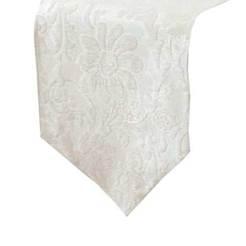 Limeinimukete Polyester, Maschinenwaschbar, Alltäglich Küchentischläufer Für Dinner Parties, Veranstaltungen, Dekor 33 x 210 cm - Schwarz, Weiß, Rot, 1 PC (Color : White)