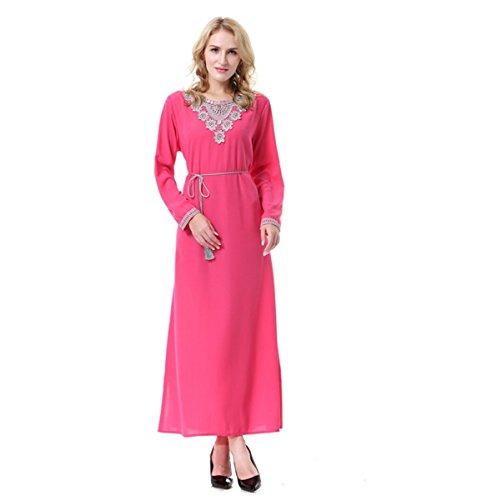 Dreamskull Muslim Abaya Dubai Kleid Muslimisch Islamisch Arab Arabisch Indien Türkisch Casual Abendkleid Abendmode Kaftan Kleidung Maxikleid A Linie Dress Schwarz Damen Frauen (M, (Arabien Für Saudi Frauen Kostüm)