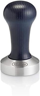 DeLonghi DLSC058 kahve sürahisi, paslanmaz çelik, ahşap saplı, mavi, gümüş