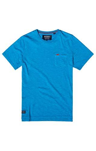 Superdry Herren Dry Originals S/S Pocket Tee T-Shirt, Blau (Beach Blue Space Dye Z2N), XL (Pocket T-shirts Für Männer)