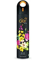 Godrej aer spray, Premium Air Freshener for Home & Office - Alive (270ml)