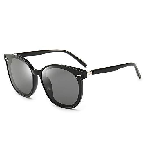 Thirteen Polarisierte Sonnenbrille Weibliches Rundes Gesicht Anti-UV-Brille, Kann Verwendet Werden, Um Driving Travel, Geeignet Für Eine Vielzahl Von Gesichtstypen Zu Schmücken. (Color : Black)