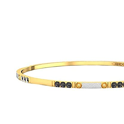 Candere By Kalyan Jewellers Contemporary Collection 22k Yellow Gold Parinitee Bangle