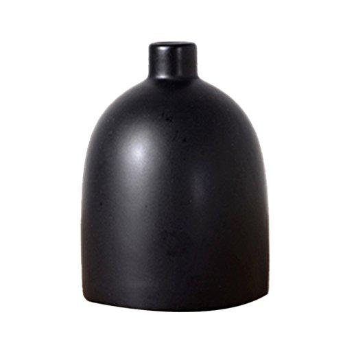 Sharplace Moderne Deko Vase Blumenvase aus Keramik, Nordische Tischvase - Schwarz