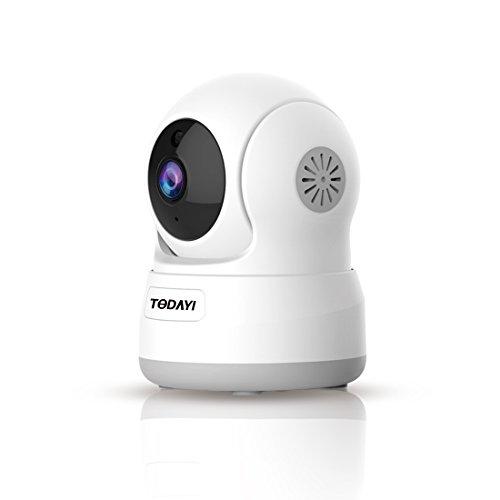 IP Kamera, WLAN Wifi 720P Wireless IP Kamera Heim überwachungskamera die bewegungserkennung Alarm 2 Weg Audio IR Nachtsicht Nanny Baby Überwachung für Smartphone/PC Mini Sicherheitskamera …
