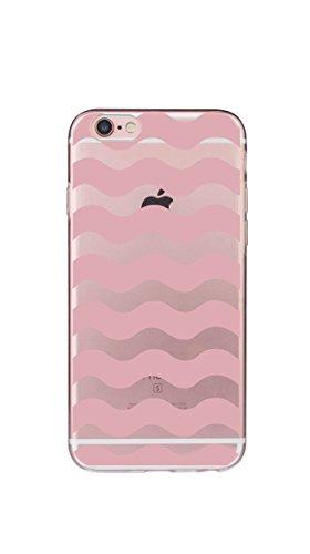 Cover iPhone 6/6s, iphone 6/6s Custodia,Morbido TPU Cover Cristallo limpido Trasparente Slim Anti Scivolo Custodia Protezione Cover Case for Apple(Dente di leone ) onda