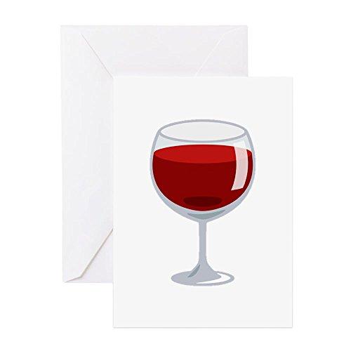 CafePress–wine-glass Emoji–Grußkarte, Note Karte, Geburtstagskarte, innen blanko,...