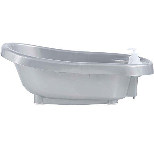 Bébé-Jou Termobath Click - Bañera con dosificadores y termómetro incorporado, color plata