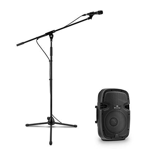 Malone PW-2110 Aktives PA-Lautsprecher-Set mit Mikrofon • Monitorbox • PA-Box Aktiv • 400 Watt • 4 Ohm • XLR- und Klinkeneingang • 2-Band Equalizer • inkl. Mikrofon und Mikrofonständer • schwarz 400w 4 Ohm Subwoofer