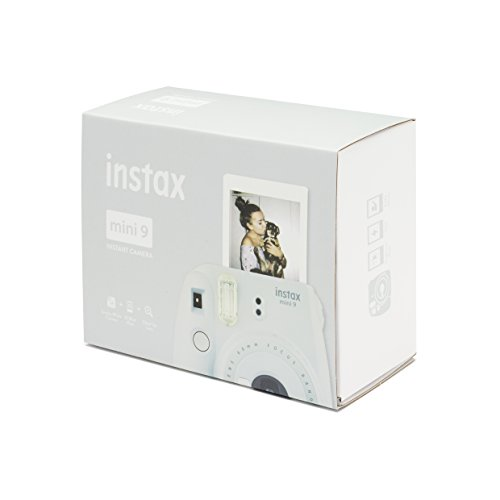 Fujifilm instax mini 9 + 10 mini film istantanea per stampe formato 62x46 mm, bianco