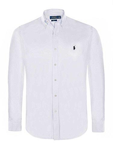 Ralph Lauren camicia da uomo Slim Fit a maniche lunghe bianco s