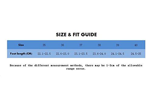 LaoZan Femme Fille Bottes de Pluie Imperméable Chaussure Souple Couleur9