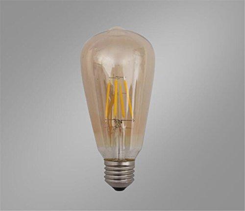 LED E27 Edison Schraube Birne Warm Dauerhafte 8W Deckenleuchte Lampen Dekorative Bernstein / Transparente Farbe, 3 Stücke,Chrome - Alle Glas Chrome Kronleuchter