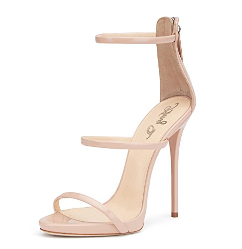 Amy Q, Sandali donna, beige (Nude), 38