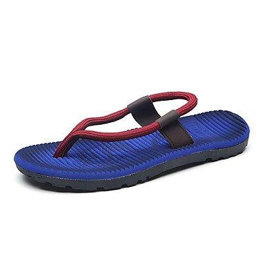 Slippers & amp da uomo;Luce Estate Soles Fleece casuale Royal Blue Khaki Red Sandals sandali US8 / EU40 / UK7 / CN41