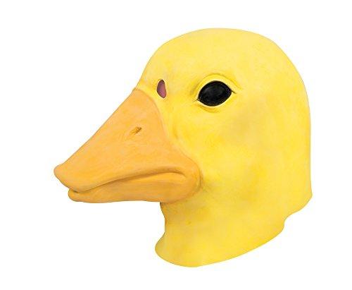 P 'tit Clown 41066Maske Erwachsene Latex Integralhelm Ente, Einheitsgröße (Ohne Kopf Kostüm)