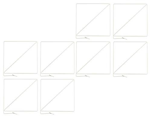 KaMel GmbH 8-er Set Regal-Trenner | Regalteiler aus Metall | weiß pulverbeschichtet | flexibel in der Montage, ohne Schrauben - Ordnungssystem Kleiderschank (8) - Regal Teiler Set