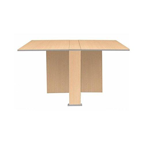 Mesa cocina plegable con dos alas en haya