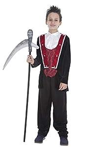 Creaciones Llopis Disfraz Infantil Vampiro GÓTICO T-M (7 A 9 AÑOS), Multicolor (83753